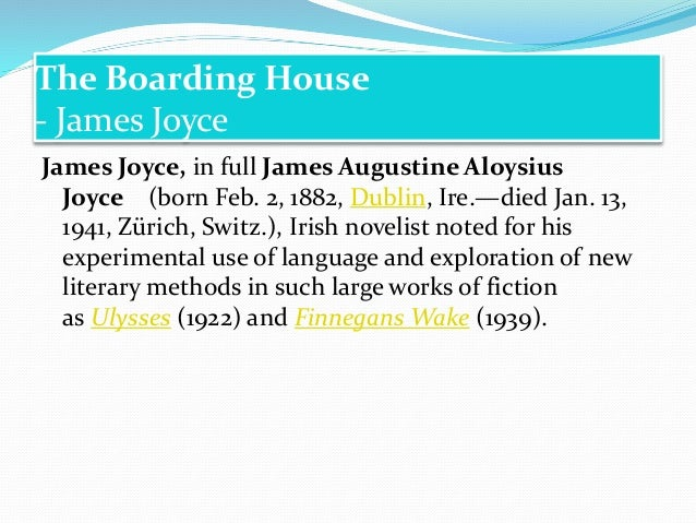 the boarding house james joyce pdf