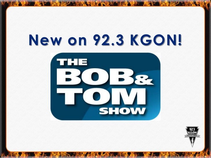 The Bob Tom Show Rollout