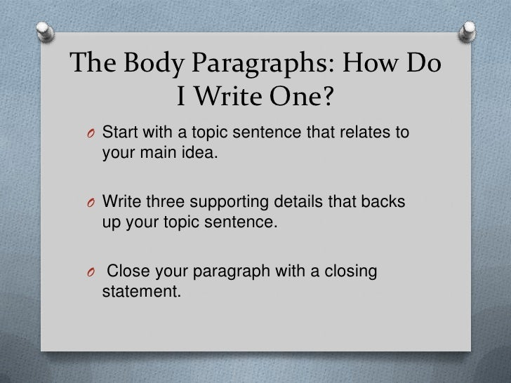 what are the paragraphs that make up the body of an essay The body of each paragraph should provide evidence validating this subtopic, with a concluding sentence that ties everything to the main argument of your essay .