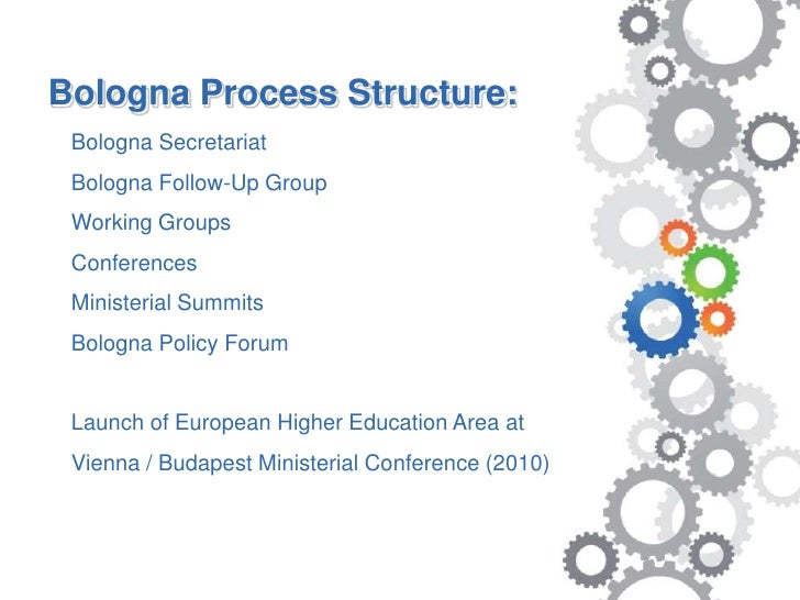 bologna process On may 19, 2005, the minister of education and science of the republic of armenia (ra) signed the bergen communiqué thereby officially joining the bologna process.