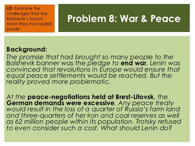 bolshevik consolidation of power essay The bolshevik consolidation of power 1918-21 the source is the active, untrammelled, energetic, political life of the broadest masses of people' 2 the treaty of brest litovsk 1918 lenin wanted immediate peace in the war with germany trotsky wanted a delay lenin thought that russia is suffering f.