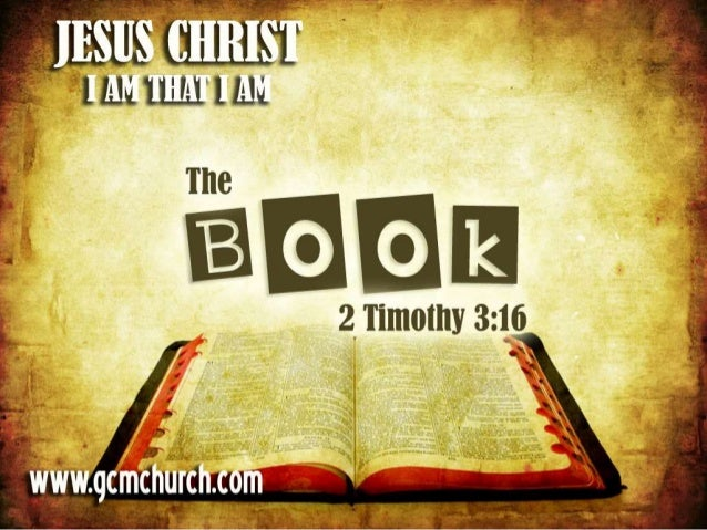 2 Timothy 3:16 All scripture is given by inspiration of God, and is profitable for doctrine, for reproof, for correction, ...