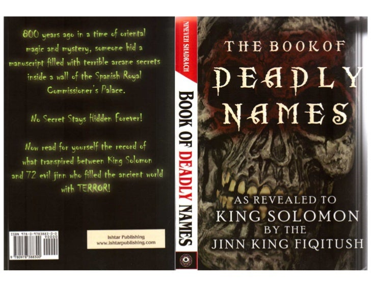 The book of deadly names