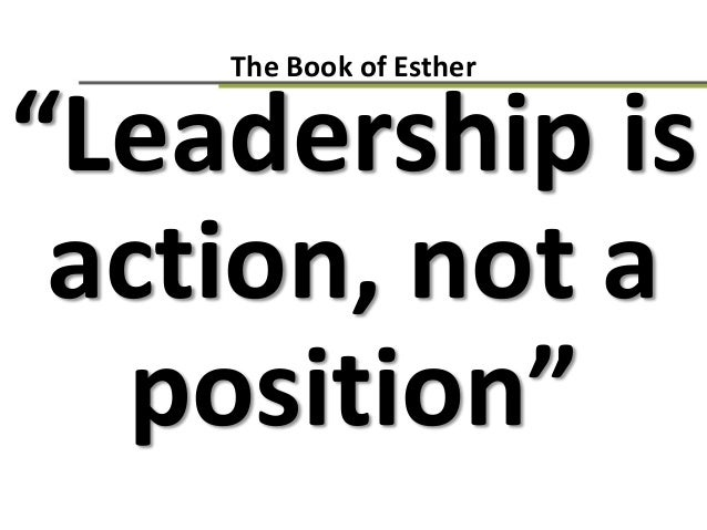 The book of Esther - leader and control by Anand Pillai