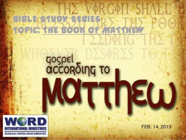 Book of Matthew - Read, Study Bible Verses Online