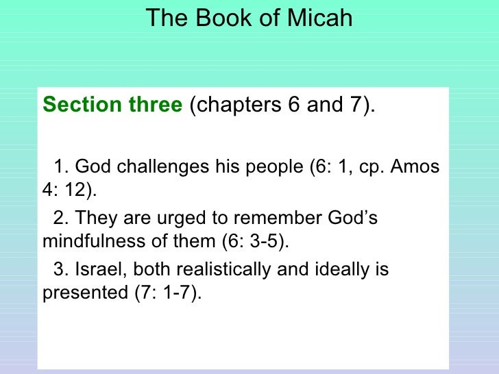 the book of micah The book of micah 1,698 likes read the book of micah - .