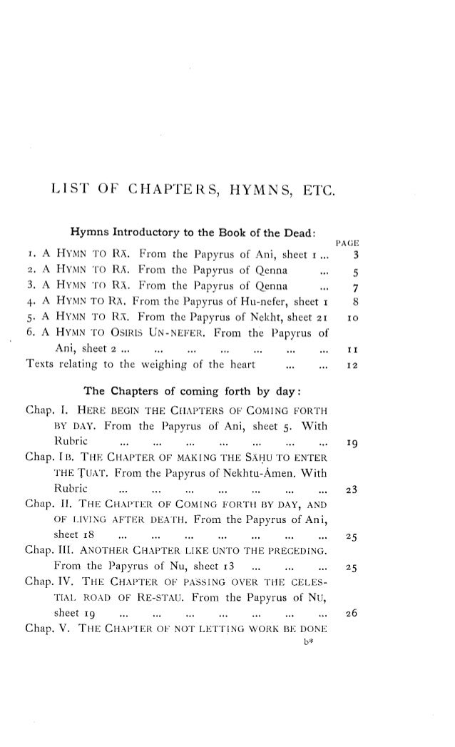 The Book Ofthedeadthechaptersofcomingforthbydayeawalliceb