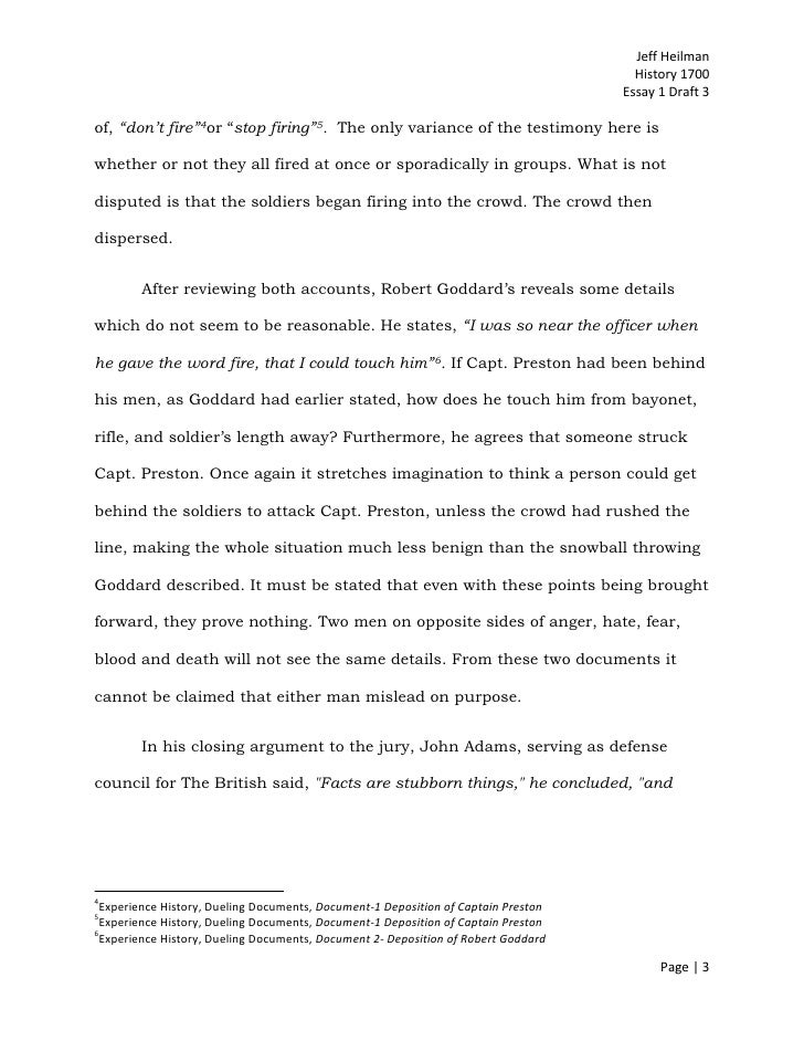 was the boston massacre really a massacre - essay Free essay: the boston massacre was an extremely important event in american  history also, it a very controversial topic to this day, no one can really.