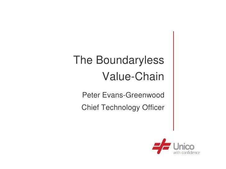 The Boundaryless      Value-Chain  Peter Evans-Greenwood  Chief Technology Officer