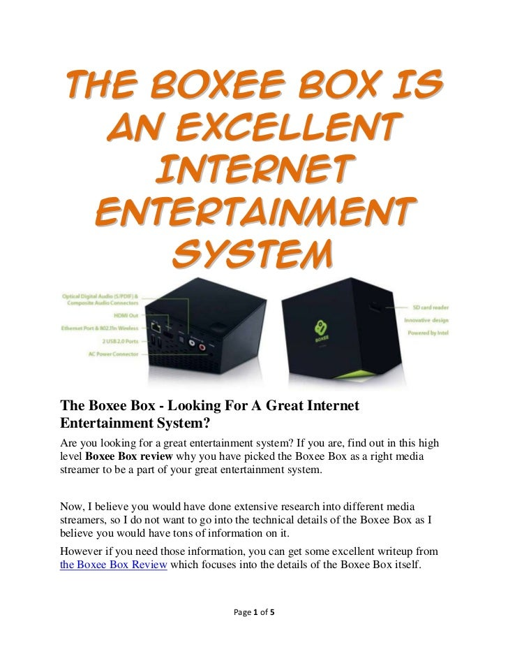 The Boxee Box Is  An Excellent    Internet Entertainment     SystemThe Boxee Box - Looking For A Great InternetEntertainme...