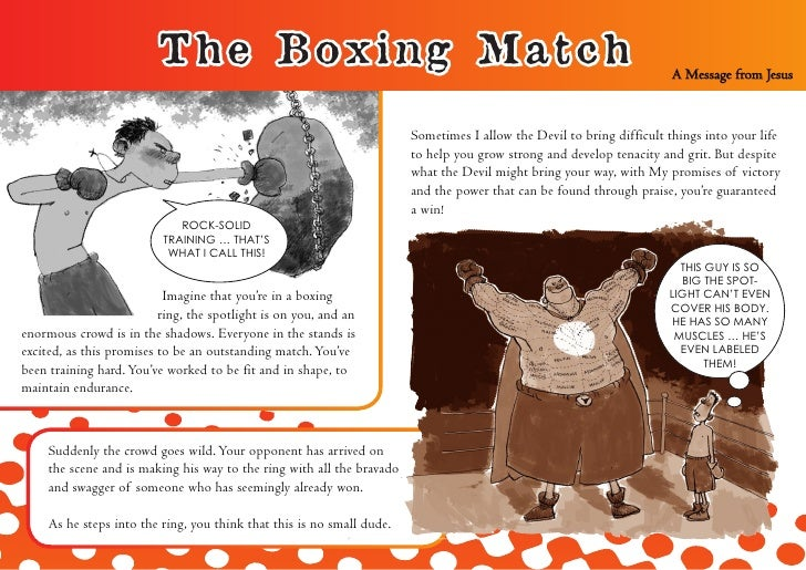 The Boxing Match                                                                               A Message from Jesus       ...