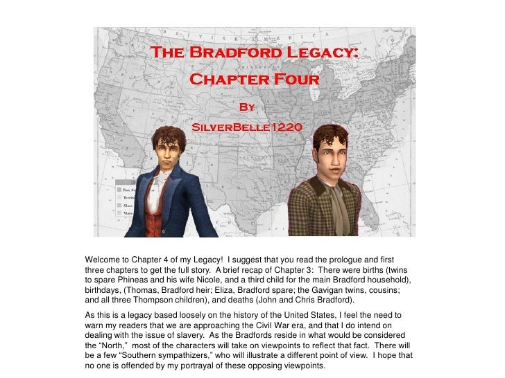 Welcome to Chapter 4 of my Legacy! I suggest that you read the prologue and first three chapters to get the full story. A ...