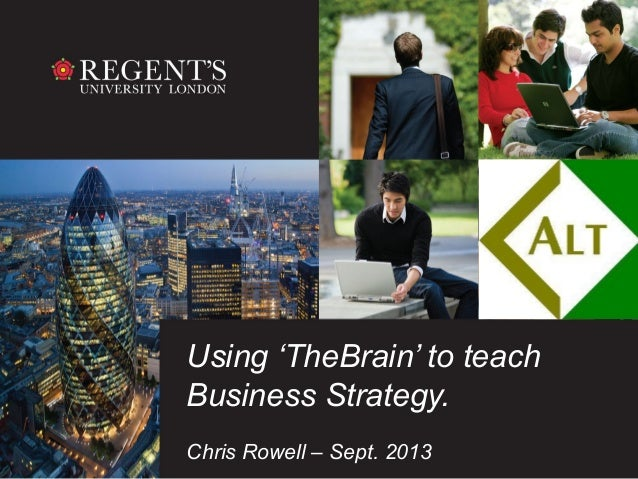 Using 'TheBrain' to teach Business Strategy. Chris Rowell – Sept. 2013