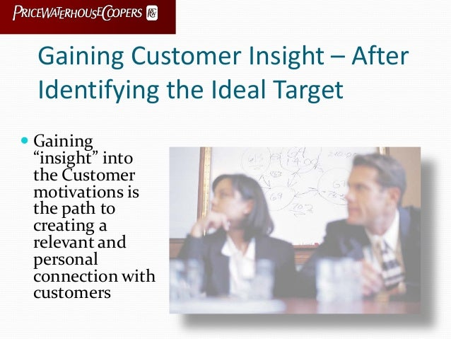 """Gaining Customer Insight – After Identifying the Ideal Target  Gaining """"insight"""" into the Customer motivations is the pat..."""