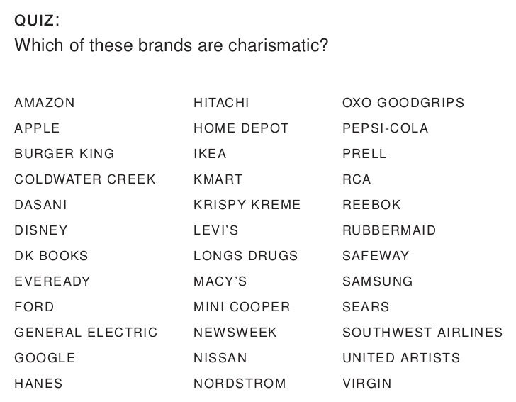 Any brand can be charismatic.