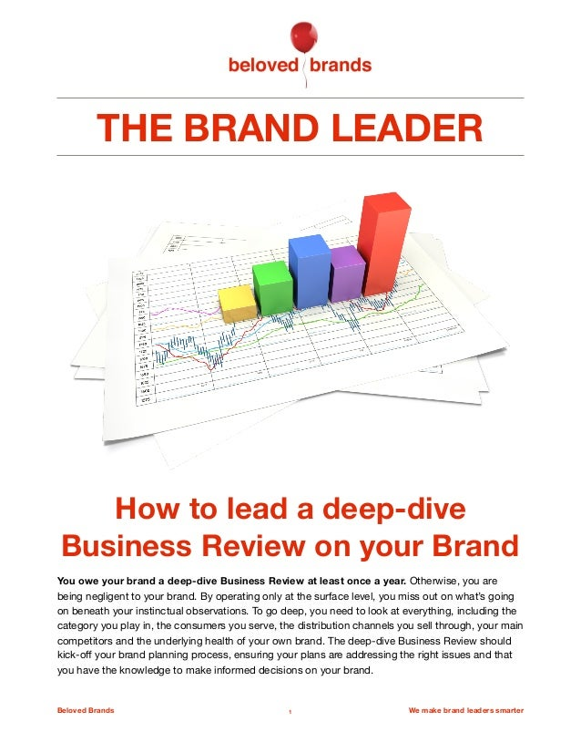 THE BRAND LEADER How to lead a deep-dive Business Review on your Brand You owe your brand a deep-dive Business Review at l...