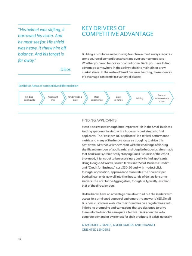 statements and other documented sources of information about a Business. Alternative lenders typically automate much of th...