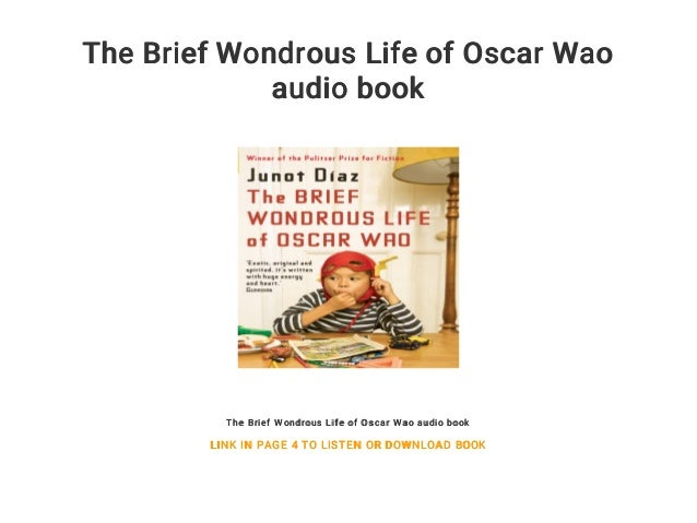 the wondrous life of oscar wao audiobook