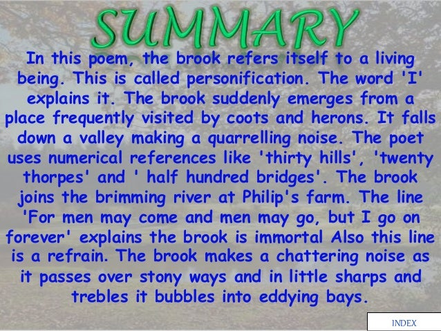 the brook by alfred tennyson