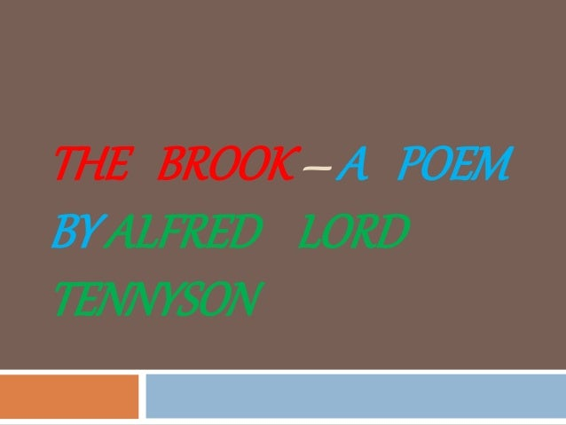 explain the brook by alfred lord tennyson