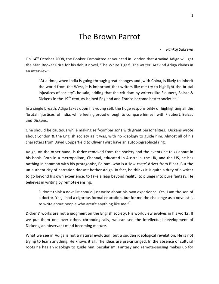 1                                    The Brown Parrot                                                                     ...