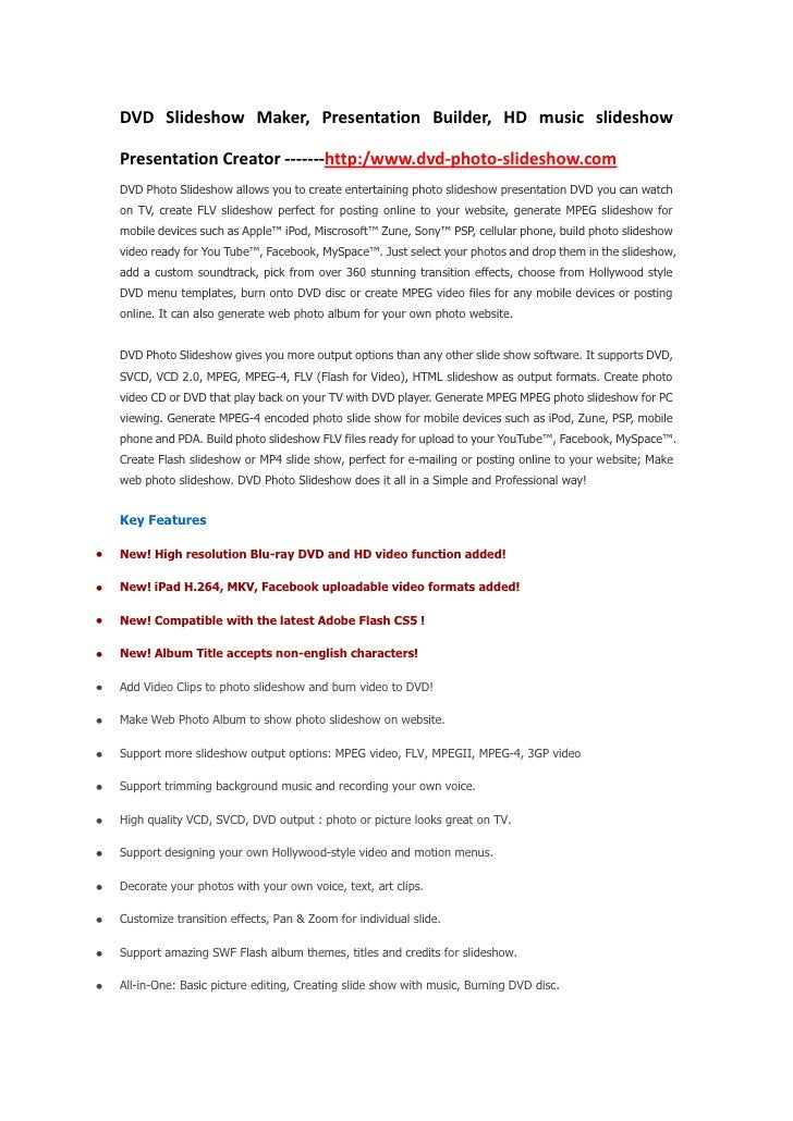 DVD Slideshow Maker, Presentation Builder, HD music slideshow Presentation Creator -------http:/www.dvd-photo-slideshow.co...