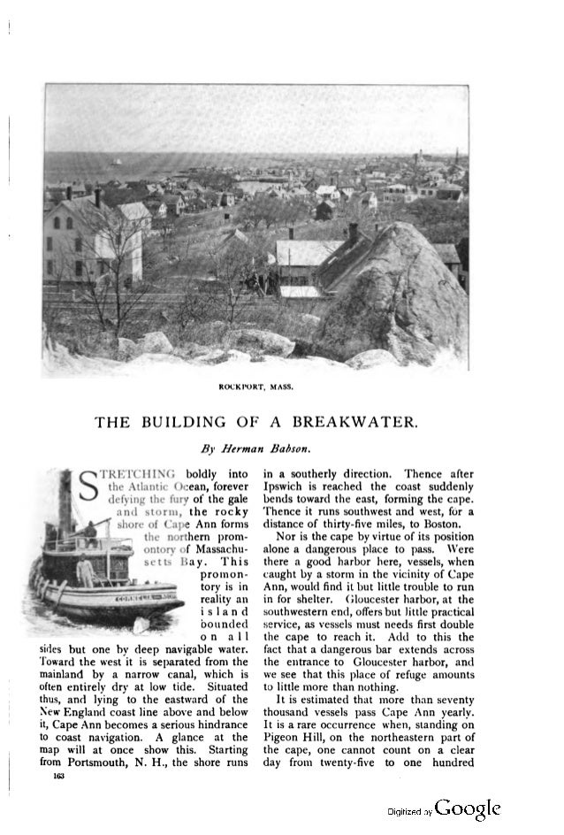 The Building of a Breakwater, October 1894