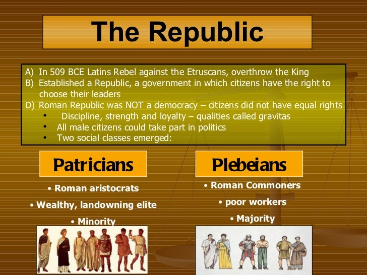 the major role of the citizens of rome to the development of the new roman republic Republic to empire: government in ancient rome  ask each student to take on the role of either a roman citizen living during the republic or a roman citizen living.