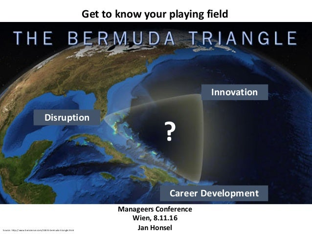 Innovation Career	Development Disruption ? Source:	http://www.livescience.com/23435-bermuda-triangle.html Get to know your...