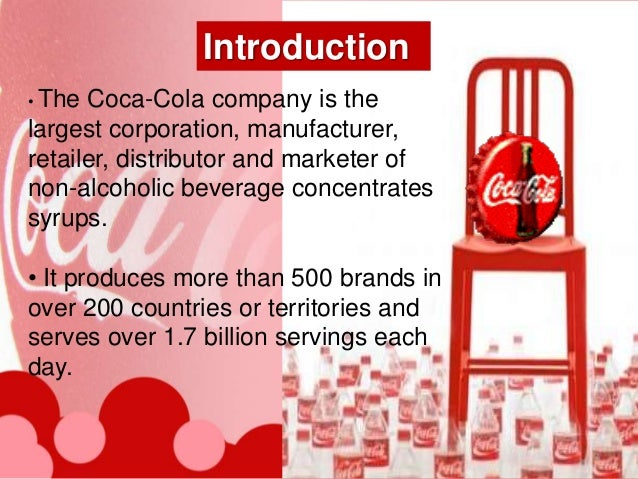 the position of coca cola company on the global market Examine the global nonalcoholic beverage industry, and learn what percentage of the market is controlled by the two major companies, coca-cola and pepsi.