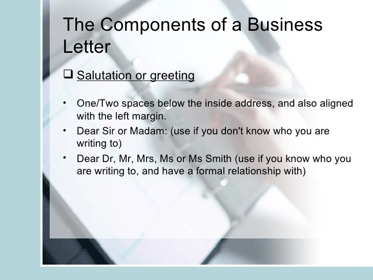 The business and informal letter copy 6 expocarfo Gallery