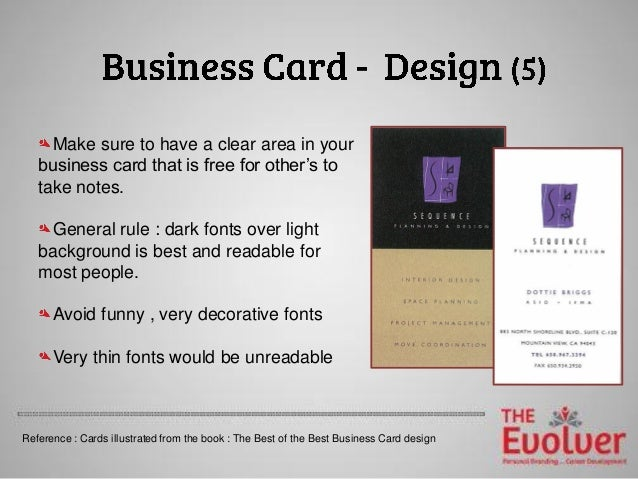 the business card principles part 1 design dos don ts