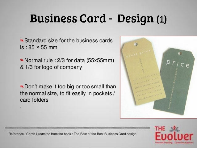 The business card principles part 1 design dosdonts business card design 9 standard size colourmoves Gallery