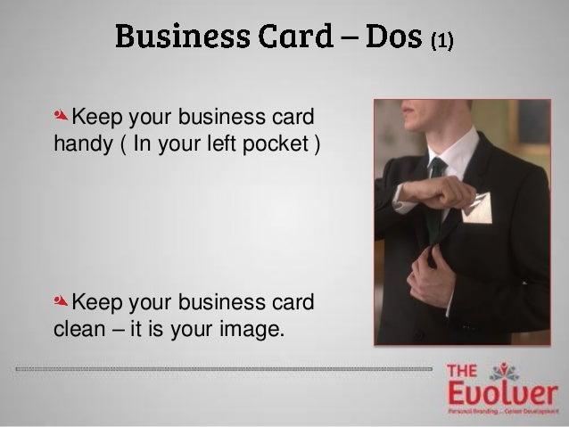 The Business Card Principles part 2 Etiquette DOs&DON'Ts