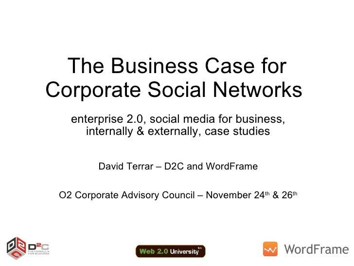The Business Case for Corporate Social Networks  enterprise 2.0, social media for business, internally & externally, case ...