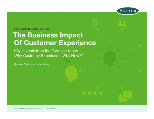 "FORRESTER PERSPECTIVE:  $  The Business Impact Of Customer Experience Key insights from the Forrester report ""Why Customer..."