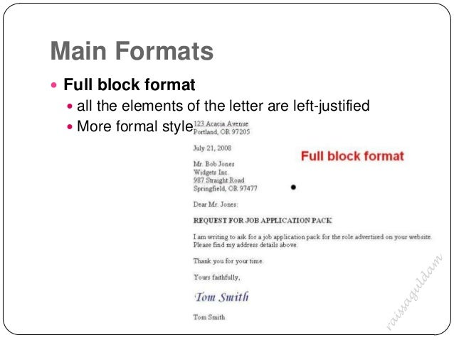 The business letter 2 main formats full block format thecheapjerseys Image collections