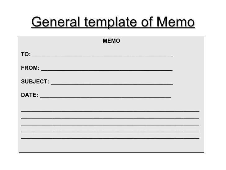 The business memos – Business Memorandum Template