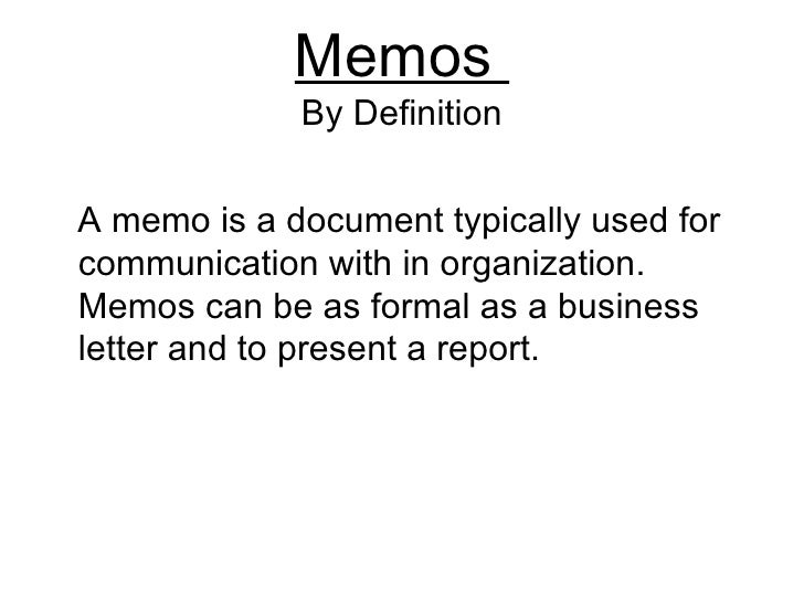 what is a memorandum in business communication