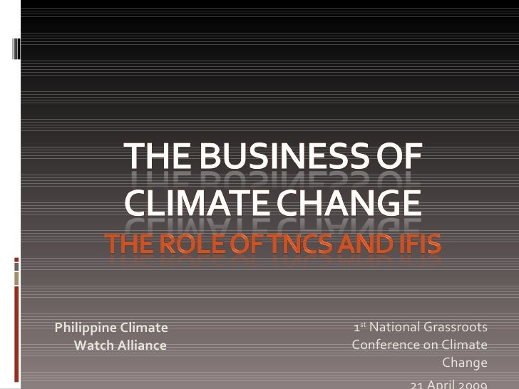 Climate change strategy for business