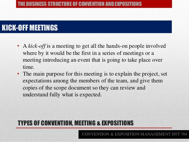 • A kick-off is a meeting to get all the hands-on people involved where by it would be the first in a series of meetings o...