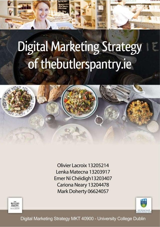 Digital Marketing Strategy MKT 40900 - University College Dublin