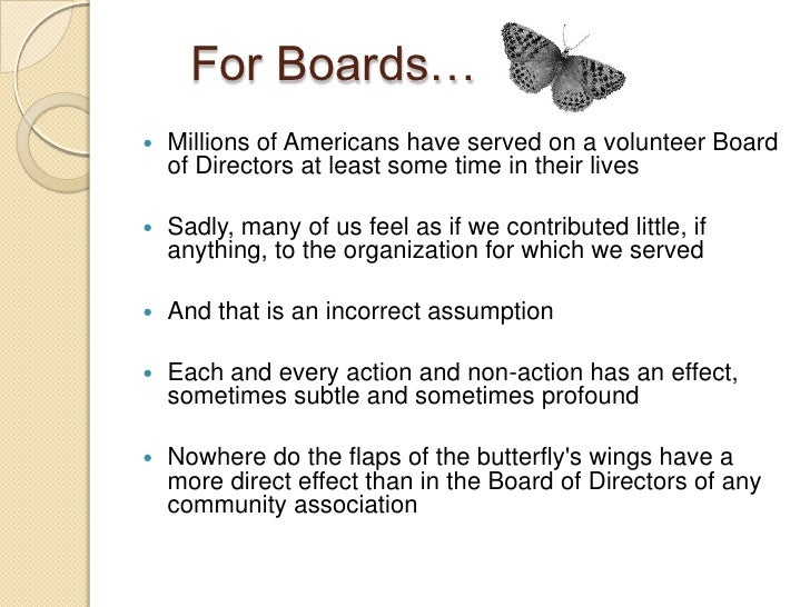The butterfly effect managing the organization
