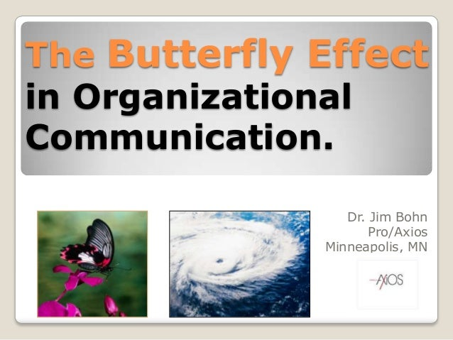 The Butterfly Effectin OrganizationalCommunication.Dr. Jim BohnPro/AxiosMinneapolis, MN
