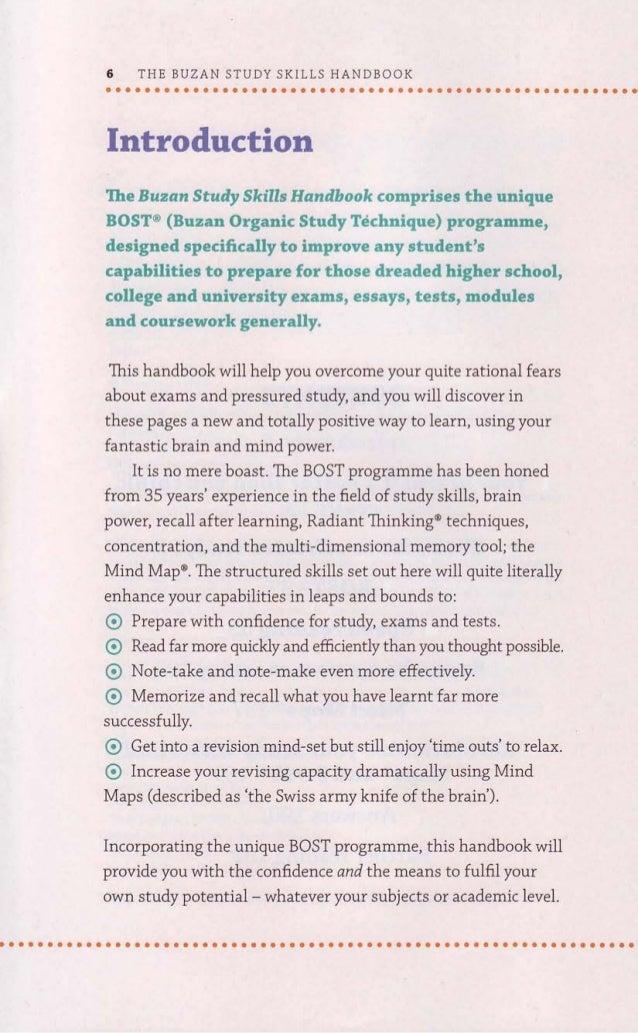 The buzan study skills handbook