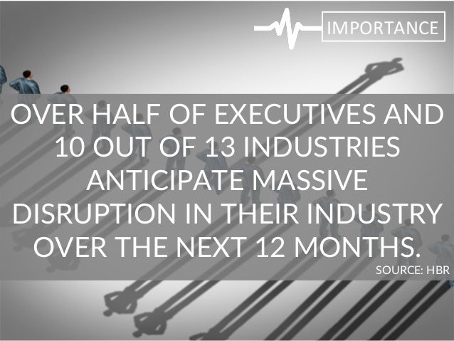 OVER HALF OF EXECUTIVES AND  10 OUT OF 13 INDUSTRIES   ANTICIPATE MASSIVE  DISRUPTION IN THEIR INDUSTRY  ...