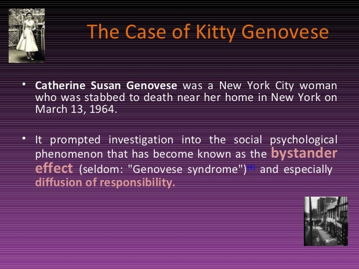 On the morality and murder of kitty genovese