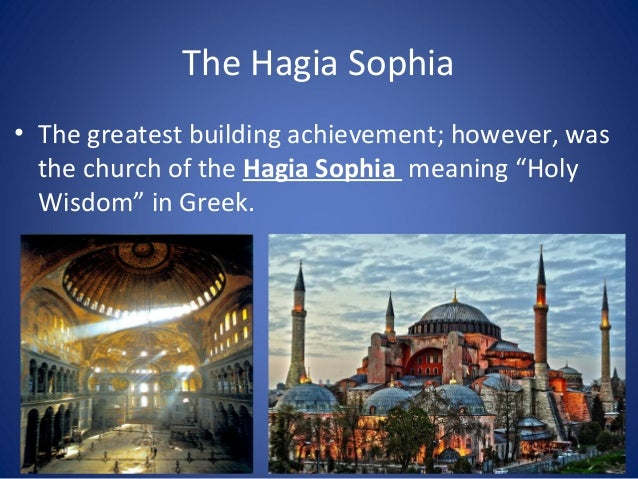 The Hagia Sophia • The Hagia Sophia is important for both religious and architectural reasons. • It is renown for is domes...