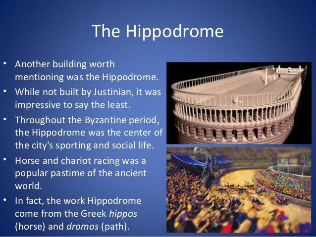 The Hippodrome • At it's largest, the Hippodrome sat over 100,000 spectators! • It was said to have been elaborately decor...