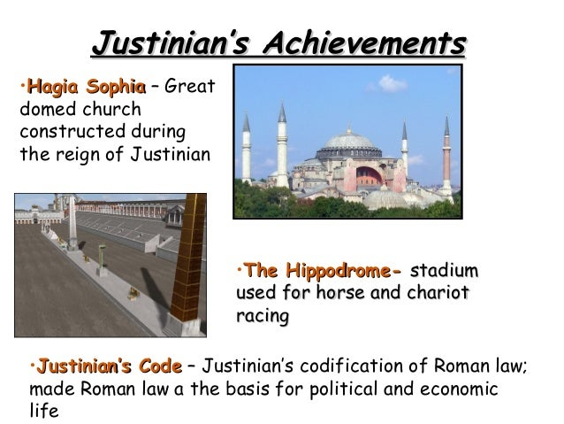 the goals and contributions of justinian to the byzantine empire Justinian's major goal during his reign was to return the byzantine empire to its former glory he sought to accomplish this by expanding the empire and strengthening its borders justinian ruled the byzantine empire from 527 to 565 ad he assumed the throne following the death of his uncle.
